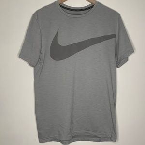 Nike Dri-FIT Training Swoosh Grey Shirt Medium